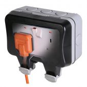 Weatherproof 13A Double Switched Socket Outlet WP22