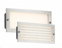 LED Recessed Brick Light 5W Brushed Steel Fascia
