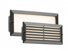 LED Recessed Brick Light 5W Black Fascia
