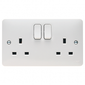 Sollysta 13A 2 Gang Dual Earth Switched Socket WMSS82